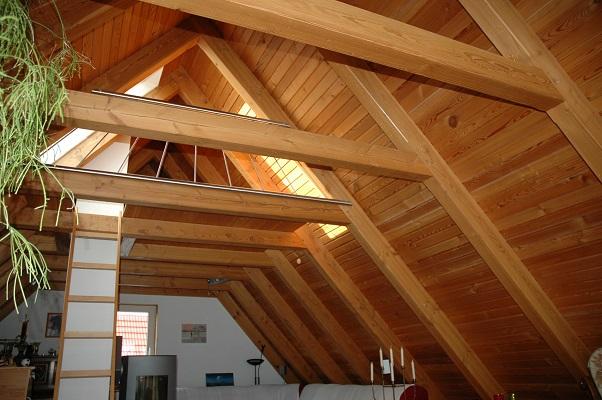 Denkmalbau weimar gmbh dachstuhl sichtbarer in douglasie - Dachstuhl ausbauen ...
